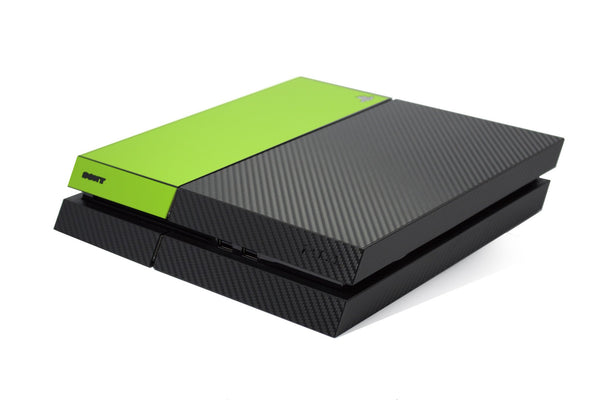 ps4 carbon fiber skin and green matt