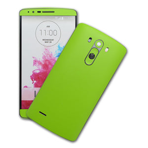 LG G3 MATT Matte Green Skin Sticker Wrap Cover Decal Protector