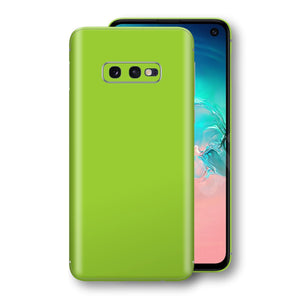 Samsung Galaxy S10e Green Matt Skin, Decal, Wrap, Protector, Cover by EasySkinz | EasySkinz.com