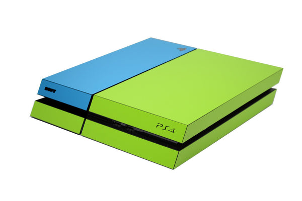 ps4 green and blue matt skin