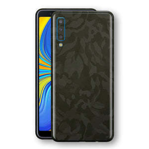 Samsung Galaxy A7 (2018) Green Camo Camouflage 3D Textured Skin Wrap Decal Protector | EasySkinz