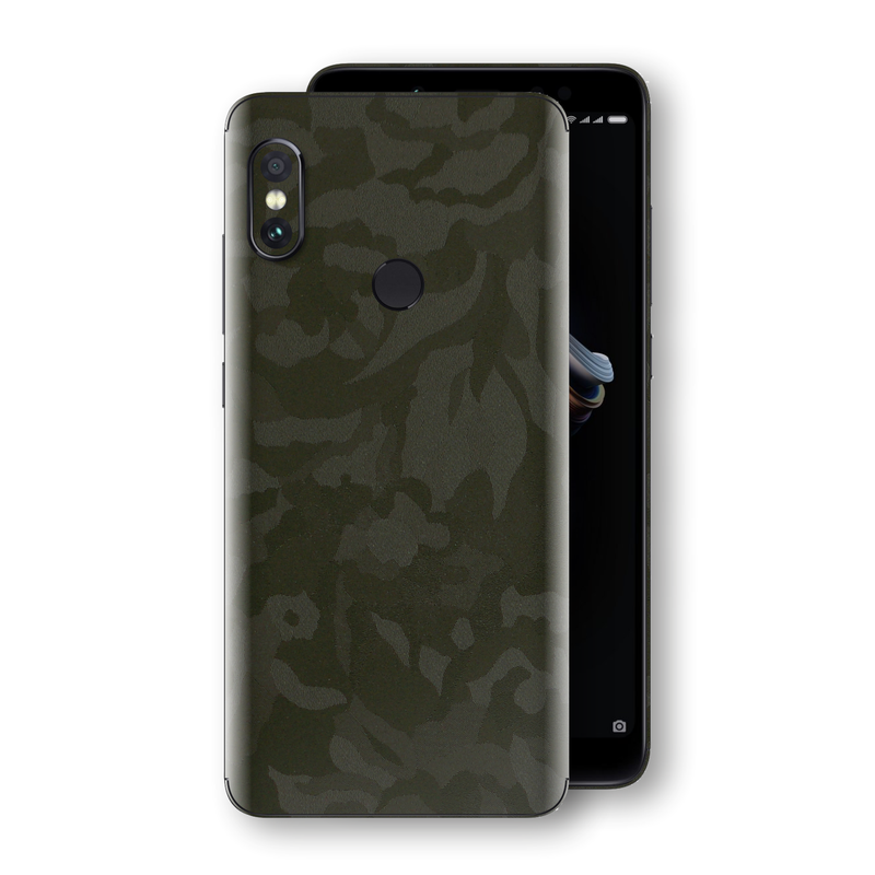 XIAOMI Redmi NOTE 5 Green Camo Camouflage 3D Textured Skin Wrap Decal Protector | EasySkinz
