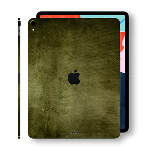 "iPad PRO 11"" inch Signature Olive Green Canvas Skin Wrap Decal Protector 