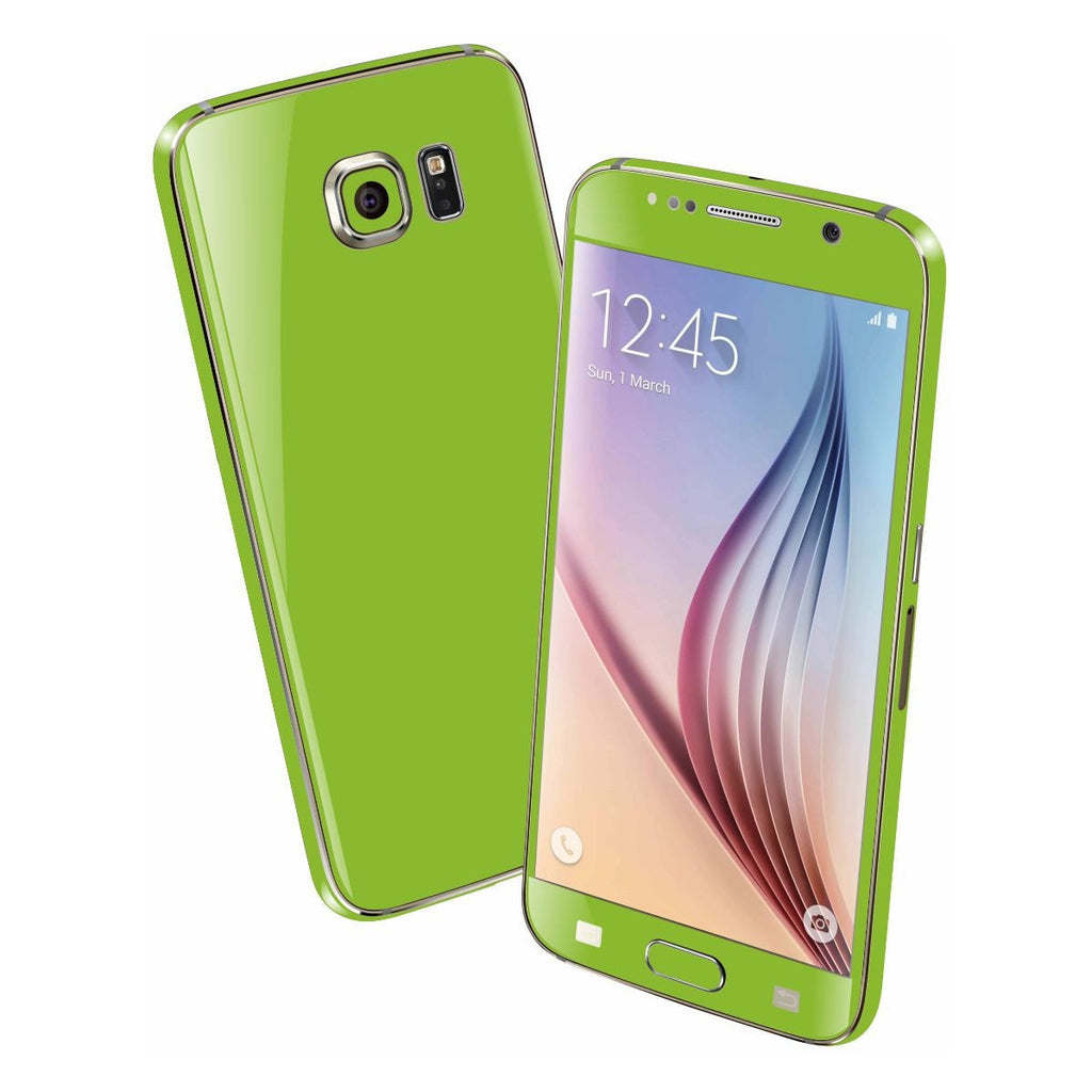 Samsung Galaxy S6 Green Matt Skin Wrap Sticker Cover Decal Protector by EasySkinz