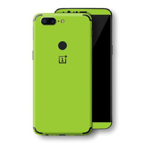 OnePlus 5T Green Matt Skin, Decal, Wrap, Protector, Cover by EasySkinz | EasySkinz.com