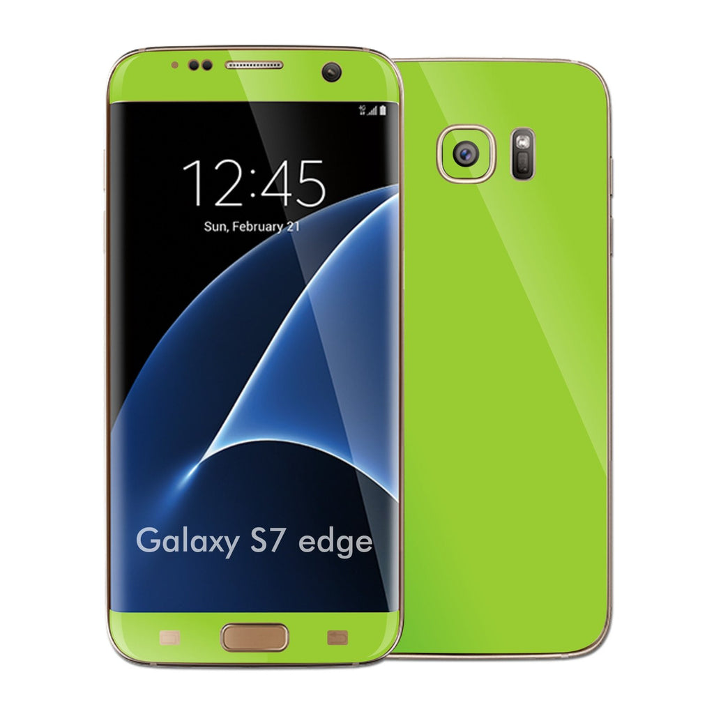 Samsung Galaxy S7 EDGE Green Matt Skin Wrap Decal Sticker Cover Protector by EasySkinz