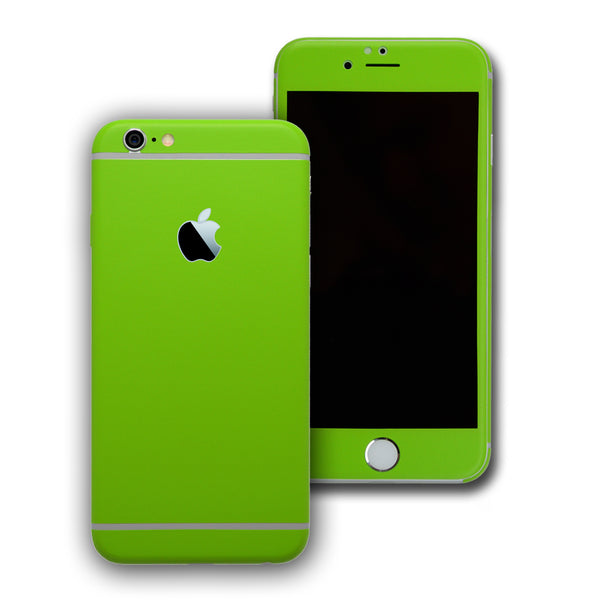 iPhone 6 Green Matt Skin Wrap Sticker Cover Decal Protector by EasySkinz