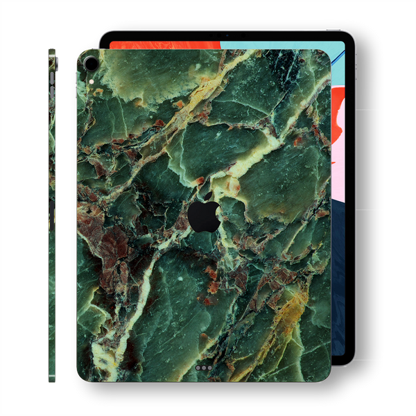 "iPad PRO 11"" inch 2018 Signature Marble Green Printed Skin Wrap Decal Protector 