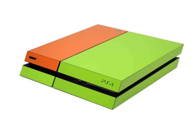 ps4 green and orange matt skin
