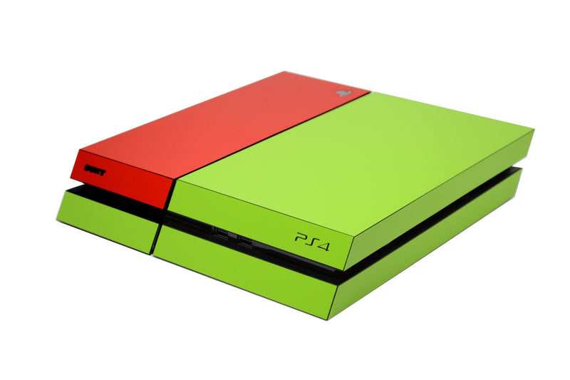 ps4 green and red matt skin