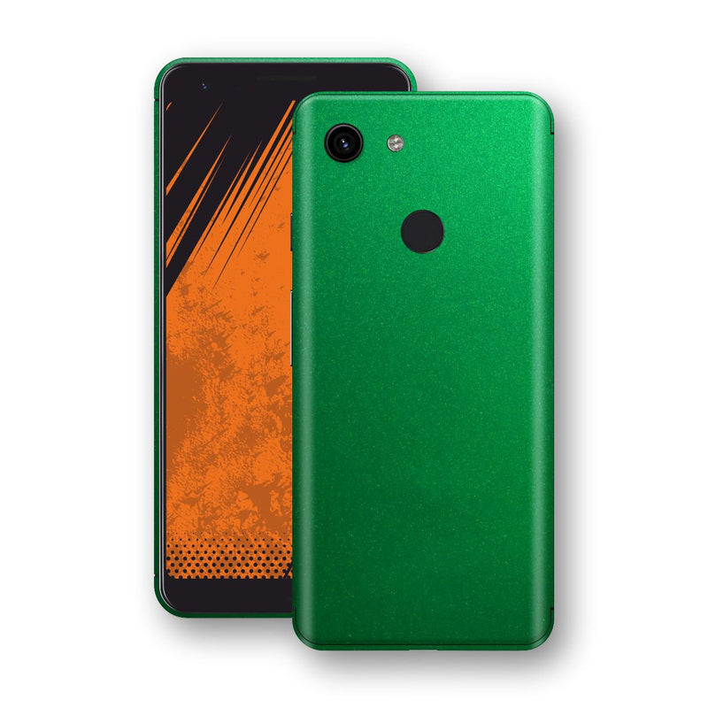 Google Pixel 3a Viper Green Tuning Metallic Skin, Decal, Wrap, Protector, Cover by EasySkinz | EasySkinz.com