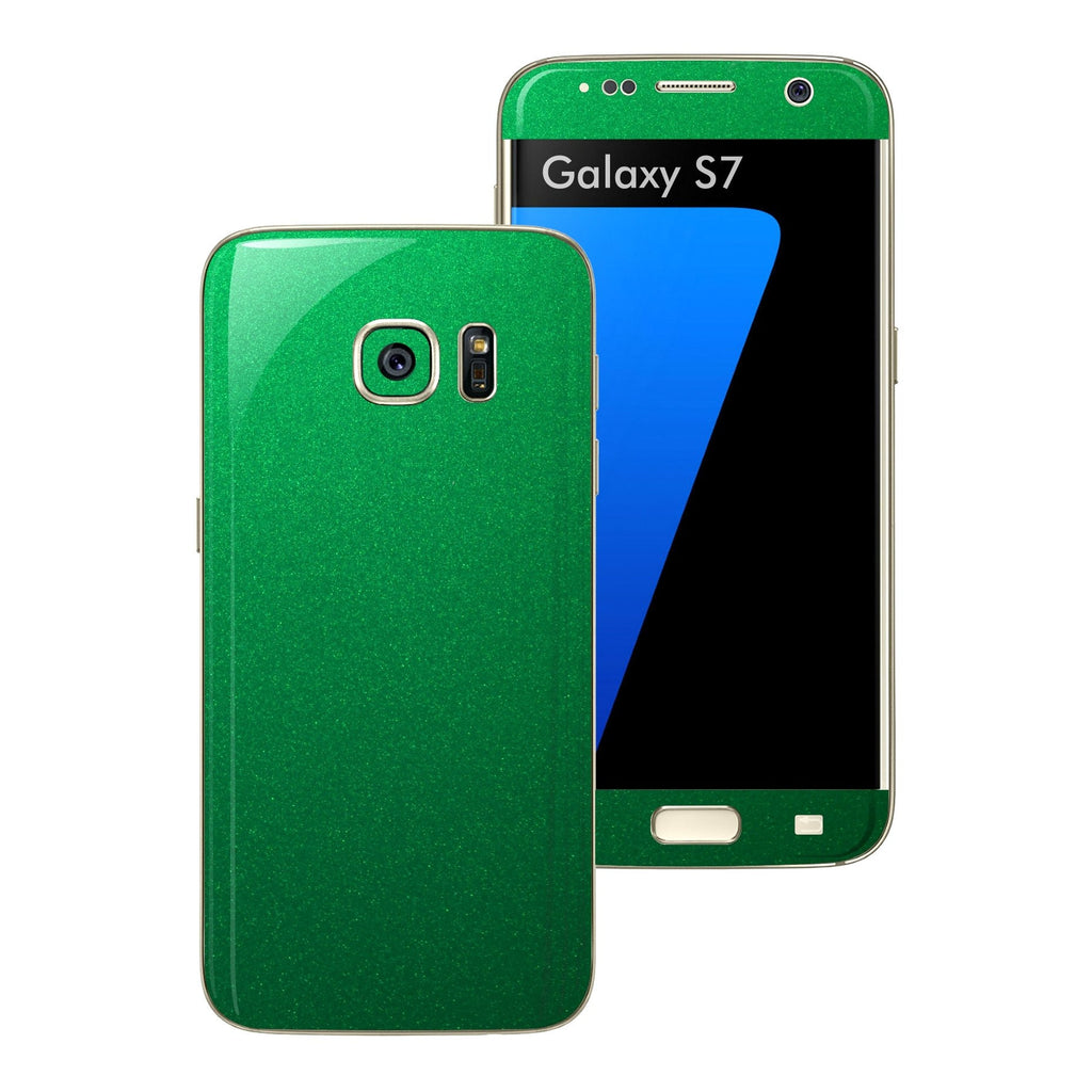 Samsung Galaxy S7 3M Viper Green Tuning Skin Wrap Decal Sticker Cover Protector by EasySkinz