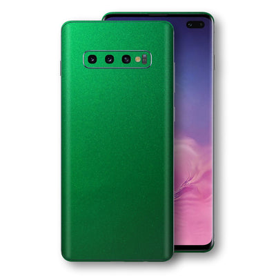 Samsung Galaxy S10+ PLUS Viper Green Tuning Metallic Skin, Decal, Wrap, Protector, Cover by EasySkinz | EasySkinz.com