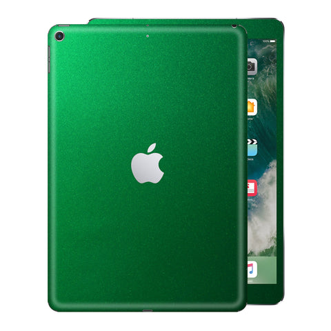 iPad 9.7 inch 2017 Glossy 3M VIPER GREEN Metallic Skin Wrap Sticker Decal Cover Protector by EasySkinz