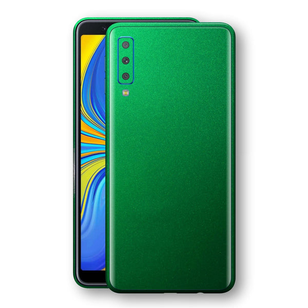 Samsung Galaxy A7 (2018) Viper Green Tuning Metallic Skin, Decal, Wrap, Protector, Cover by EasySkinz | EasySkinz.com