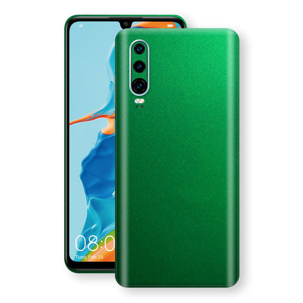 Huawei P30 Viper Green Tuning Metallic Skin, Decal, Wrap, Protector, Cover by EasySkinz | EasySkinz.com