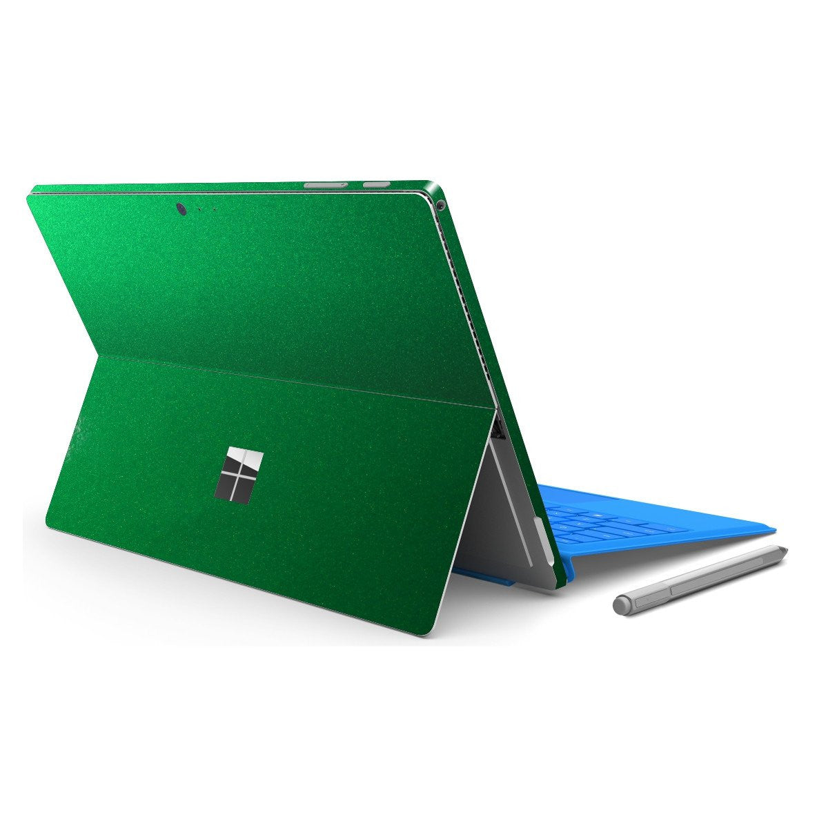 Microsoft Surface PRO 4 Glossy 3M Viper Green Tuning Skin Wrap Sticker Decal Cover Protector by EasySkinz
