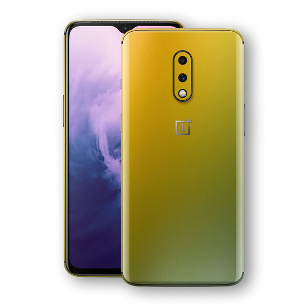OnePlus 7 Chameleon NEPHRITE-GOLD Skin Wrap Decal Cover by EasySkinz