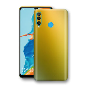 Huawei P30 LITE Chameleon NEPHRITE-GOLD Skin Wrap Decal Cover by EasySkinz