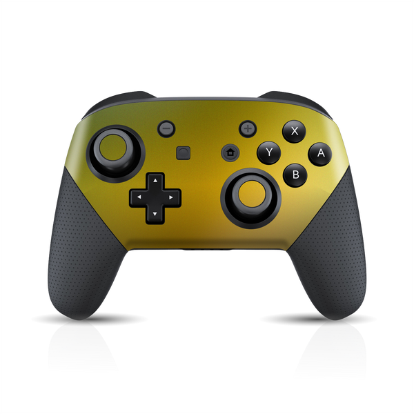 Nintendo Switch Pro Controller Chameleon NEPHRITE-GOLD Colour-Changing Skin Wrap Sticker Decal Cover Protector by EasySkinz