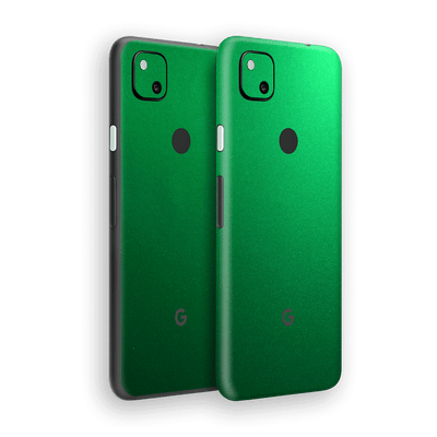 Google Pixel 4a Viper Green Tuning Metallic Skin Wrap Sticker Decal Cover Protector by EasySkinz
