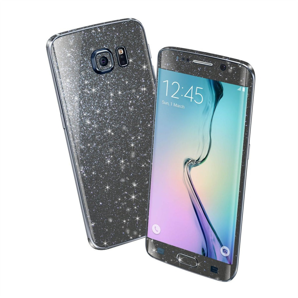 Samsung Galaxy S6 EDGE DIAMOND METEORITE Shimmering Sparkling Glitter Skin Wrap Sticker Cover Decal Protector by EasySkinz
