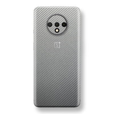 OnePlus 7T 3D Textured Metallic Grey Carbon Fibre Fiber Skin, Decal, Wrap, Protector, Cover by EasySkinz | EasySkinz.com