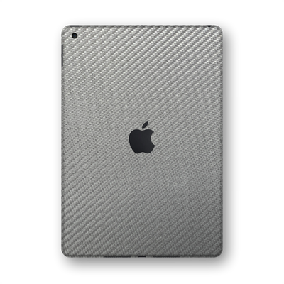 "iPad 10.2"" 8th Generation 2020 Grey 3D Textured CARBON Fibre Fiber Skin Wrap Sticker Decal Cover Protector by EasySkinz"