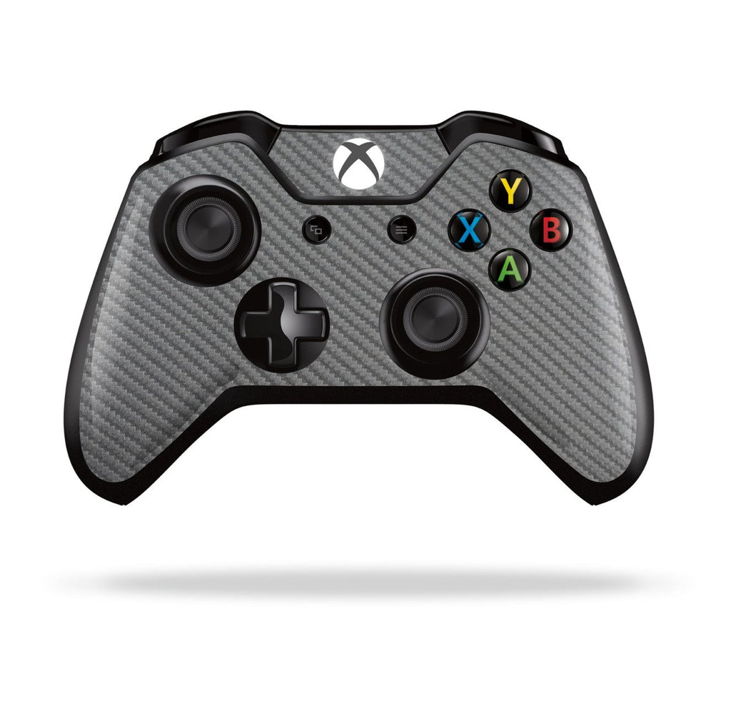 Xbox One Controller Metallic Grey 3D Textured CARBON Fibre Fiber Skin Wrap Sticker Decal Protector Cover by EasySkinz