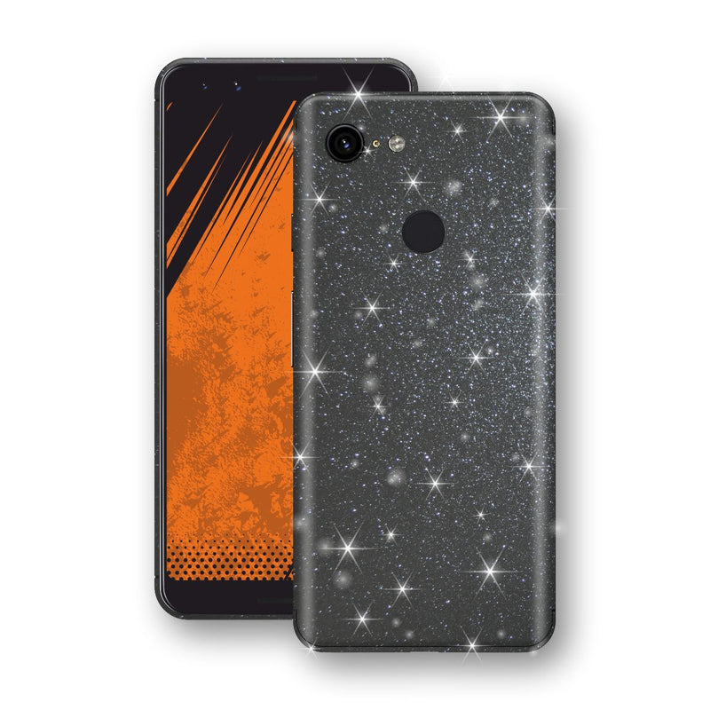 Google Pixel 3 Diamond Meteorite Shimmering, Sparkling, Glitter Skin, Decal, Wrap, Protector, Cover by EasySkinz | EasySkinz.com