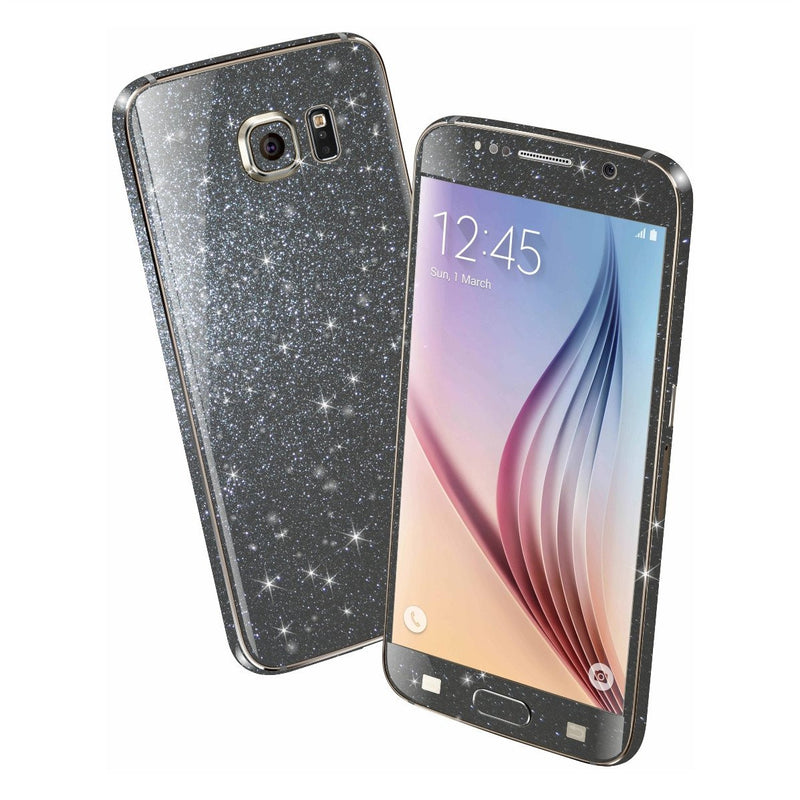 Samsung Galaxy S6 DIAMOND METEORITE Shimmering Sparkling Glitter Skin Wrap Sticker Cover Decal Protector by EasySkinz