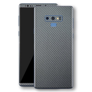 Samsung Galaxy NOTE 9 3D Textured Metallic Grey Carbon Fibre Fiber Skin, Decal, Wrap, Protector, Cover by EasySkinz | EasySkinz.com