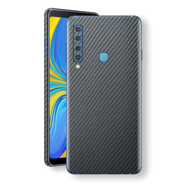 Samsung Galaxy A9 (2018) 3D Textured Metallic Grey Carbon Fibre Fiber Skin, Decal, Wrap, Protector, Cover by EasySkinz | EasySkinz.com