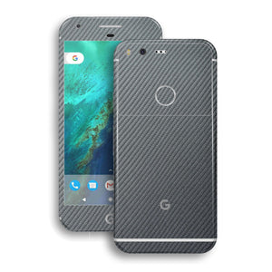 Google Pixel Metallic Grey Carbon Fibre Fiber Skin Wrap Decal by EasySkinz