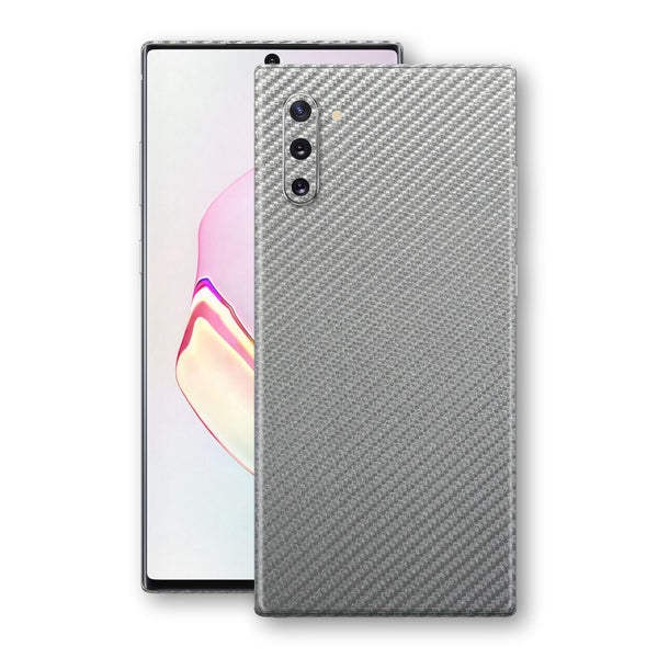Samsung Galaxy NOTE 10 3D Textured Metallic Grey Carbon Fibre Fiber Skin, Decal, Wrap, Protector, Cover by EasySkinz | EasySkinz.com