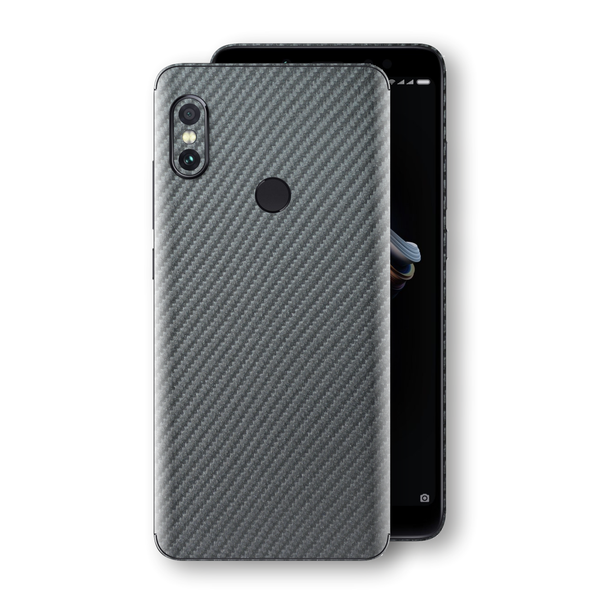 XIAOMI Redmi NOTE 5 3D Textured Metallic Grey Carbon Fibre Fiber Skin, Decal, Wrap, Protector, Cover by EasySkinz | EasySkinz.com