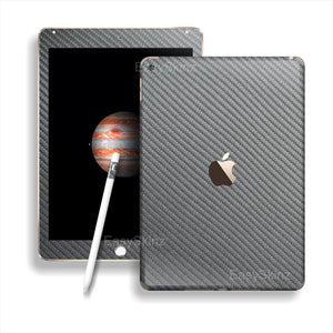 iPad PRO 3D Textured METALLIC GREY CARBON Fibre Fiber Skin Wrap Sticker Decal Cover Protector by EasySkinz