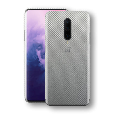 OnePlus 7 PRO 3D Textured Metallic Grey Carbon Fibre Fiber Skin, Decal, Wrap, Protector, Cover by EasySkinz | EasySkinz.com