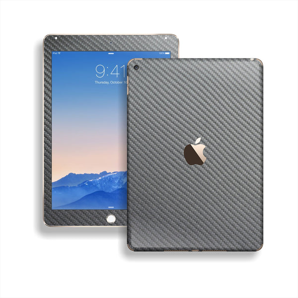 iPad Air 2 Metallic Grey CARBON Fibre Fiber Skin Wrap Decal Sticker Cover Protector by EasySkinz