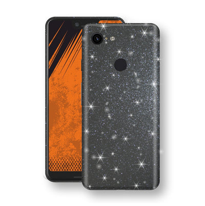 Google Pixel 3 XL Diamond Meteorite Shimmering, Sparkling, Glitter Skin, Decal, Wrap, Protector, Cover by EasySkinz | EasySkinz.com