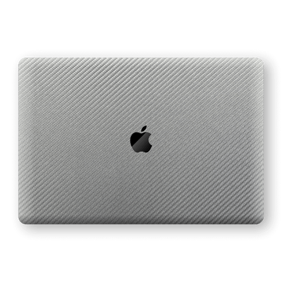 "MacBook Pro 13"" (No Touch Bar) 3D Textured Metallic Grey Carbon Fibre Fiber Skin, Decal, Wrap, Protector, Cover by EasySkinz 