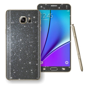 Samsung Galaxy Note 5 Diamond Glitter Shimmering METEORITE GREY Skin Wrap Decal Sticker Protector Cover by EasySkinz