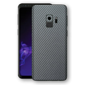 Samsung GALAXY S9 3D Textured Metallic Grey Carbon Fibre Fiber Skin, Decal, Wrap, Protector, Cover by EasySkinz | EasySkinz.com