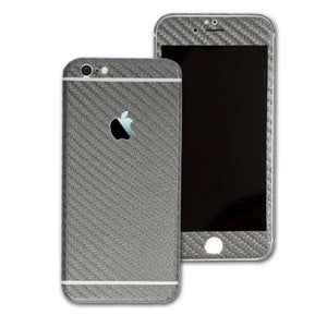 iPhone 6 Metallic Grey CARBON Fibre Sticker Skin Wrap Decal