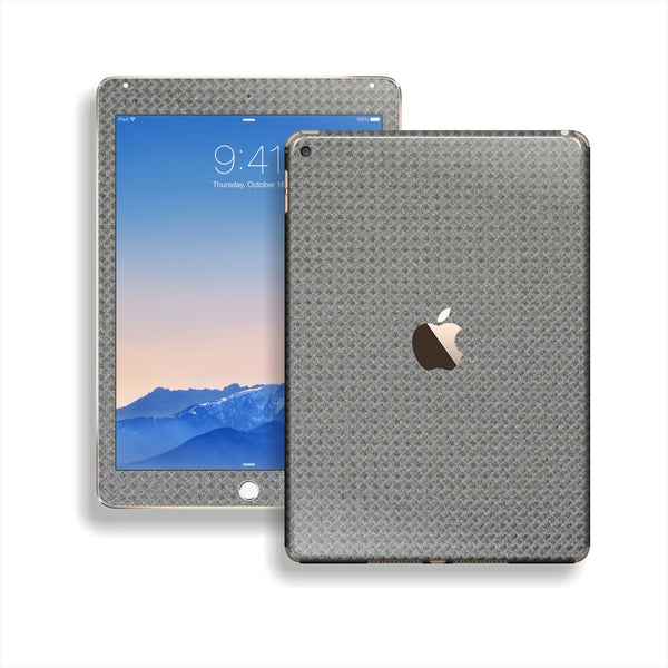 iPad Air 2 Square Metallic Grey CARBON Fibre Fiber Skin Wrap Sticker Decal Cover Protector by EasySkinz