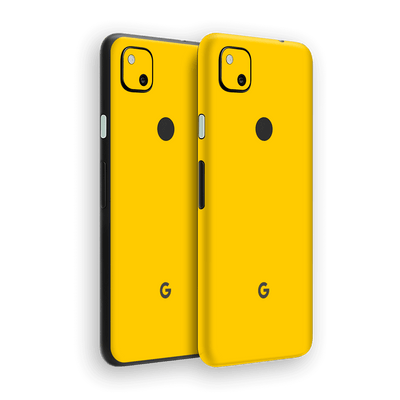Google Pixel 4a Golden Yellow Glossy Gloss Finish Skin Wrap Sticker Decal Cover Protector by EasySkinz