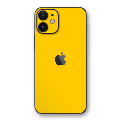 iPhone 12 Glossy Golden Yellow Skin, Wrap, Decal, Protector, Cover by EasySkinz | EasySkinz.com