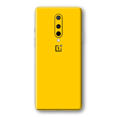 OnePlus 8 Golden Yellow Glossy Gloss Finish Skin Wrap Sticker Decal Cover Protector by EasySkinz