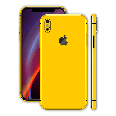 iPhone X Glossy Golden Yellow Skin, Wrap, Decal, Protector, Cover by EasySkinz | EasySkinz.com