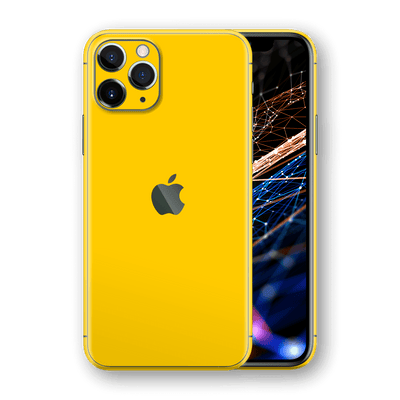 iPhone 11 PRO Glossy Golden Yellow Skin, Wrap, Decal, Protector, Cover by EasySkinz | EasySkinz.com  Edit alt text